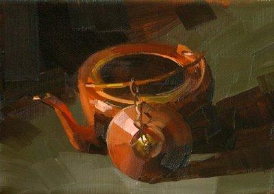 """Copper Kettle"" original fine art by Qiang Huang"