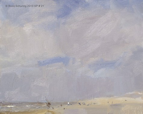 """Seascape spring 21 Spring sky also in DK Gallery"" original fine art by Roos Schuring"
