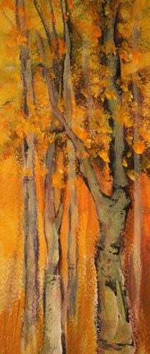 """""""Fall Trees, Landscape Paintings by Arizona Artist Amy Whitehouse"""" original fine art by Amy Whitehouse"""