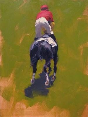 """RACE 1"" original fine art by Helen Cooper"