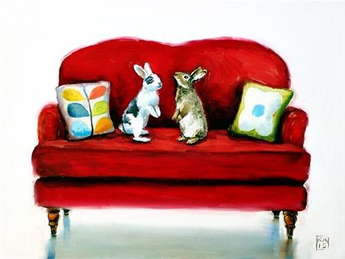 """fur real"" original fine art by Kimberly Applegate"