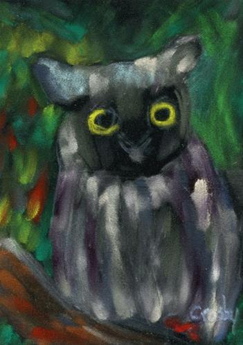 """""""Just A Little Curious"""" original fine art by Donna Crosby"""