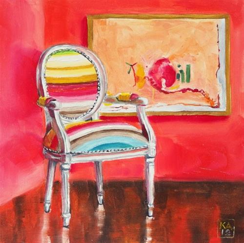 """over the rainbow"" original fine art by Kimberly Applegate"