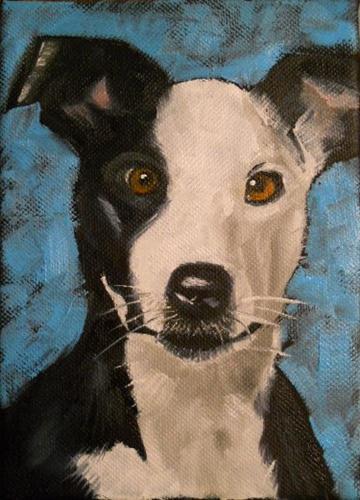 """Max"" original fine art by Claire Henning"