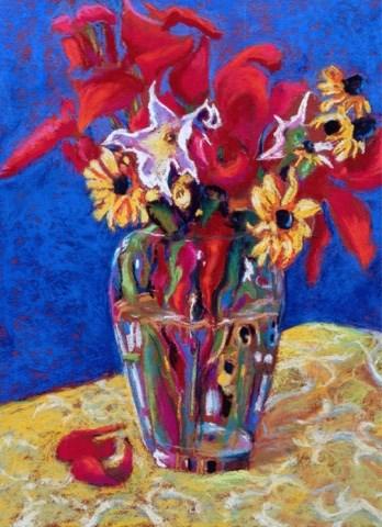 """""""Frontyard Bouquet"""" original fine art by Cindy Gillett"""