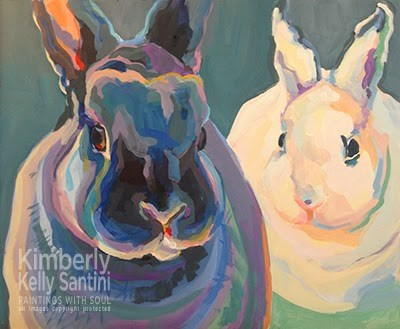 """""""Clover & Lily, In Process"""" original fine art by Kimberly Santini"""