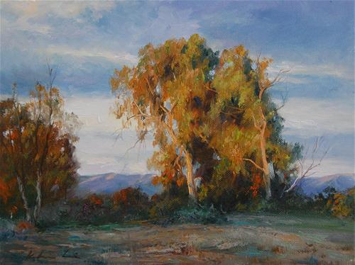 """""""Morning in the Ulistac Natural Park"""" original fine art by Kelvin Lei"""