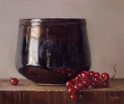 """""""Still Life with Rice Bowl and Red Currants"""" original fine art by Abbey Ryan"""