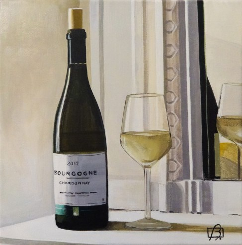 """Wine O'Clock IV"" original fine art by Andre Beaulieu"