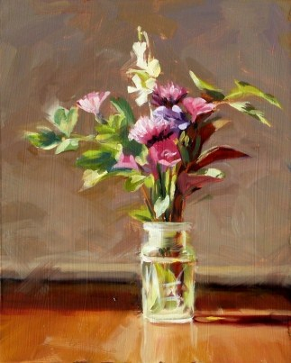"""""""Oil Painting of a Spring Bouquet"""" original fine art by Deb Anderson"""