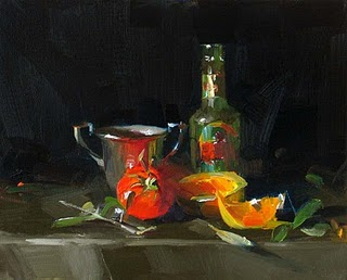"""""""A New Drink --- Sold"""" original fine art by Qiang Huang"""