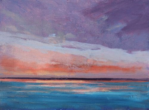 """""""Calm after the Storm, Beach and Ocean Paintings by Amy Whitehouse"""" original fine art by Amy Whitehouse"""