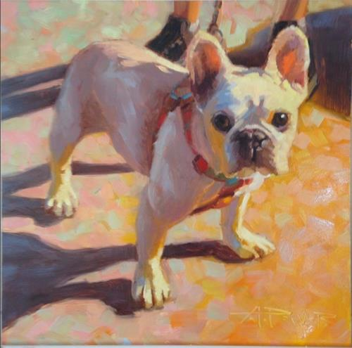"""""""7 of 30 - Dogs and Cars - The Lexie Look"""" original fine art by Anette Power"""
