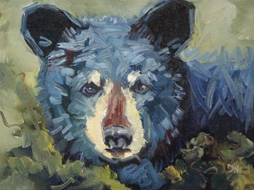 """""""Wildlife Animal Art Diane Whitehead Artoutwest 100 days"""" original fine art by Diane Whitehead"""
