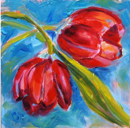 """Intertwined"" original fine art by Carol DeMumbrum"