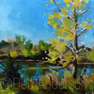 """Oil Painting: Cottonwood"" original fine art by Deb Anderson"