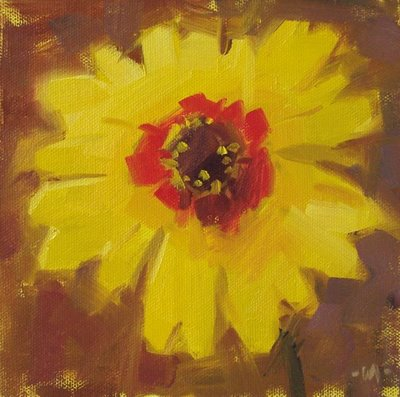 """Yellow Splash"" original fine art by Carol Marine"