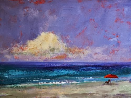 """California Dreamin' ~ Beach and Ocean Paintings by Arizona Artist Amy Whitehouse"" original fine art by Amy Whitehouse"