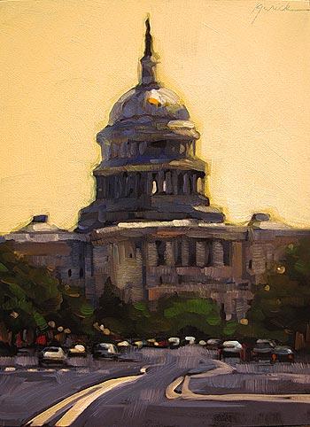 """Government"" original fine art by Karin Jurick"