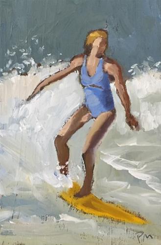 """surfer girl"" original fine art by Pamela Munger"
