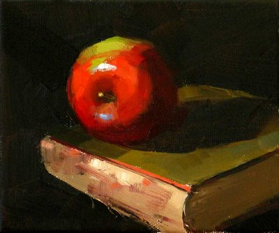 """""""On an Old Book ---Sold"""" original fine art by Qiang Huang"""