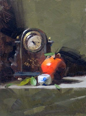 """""""Old Time --- Sold"""" original fine art by Qiang Huang"""