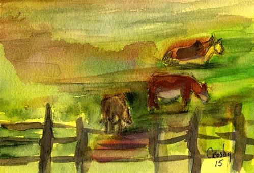 """California Calm"" original fine art by Donna Crosby"