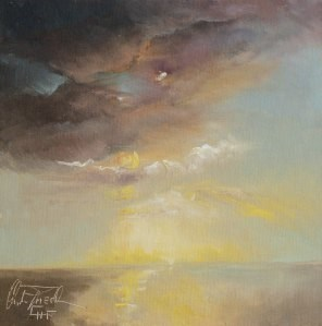 """""""Wolkenstimmung – Cloud impression"""" original fine art by Christa Friedl"""