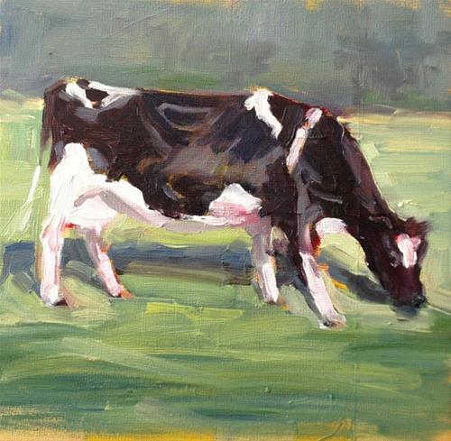 """Out Grazing"" original fine art by Deborah Newman"