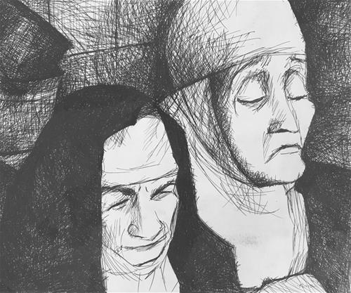"""The Old World"" original fine art by Nava Judith"