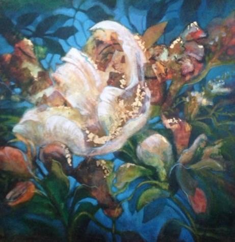 """""""Susie's Floral"""" original fine art by Margie Whittington"""