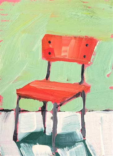 """Color Theory Chair"" original fine art by Teddi Parker"