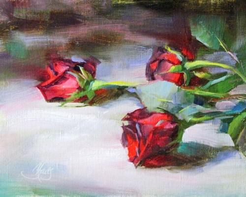 """Red Roses"" original fine art by Pamela Blaies"