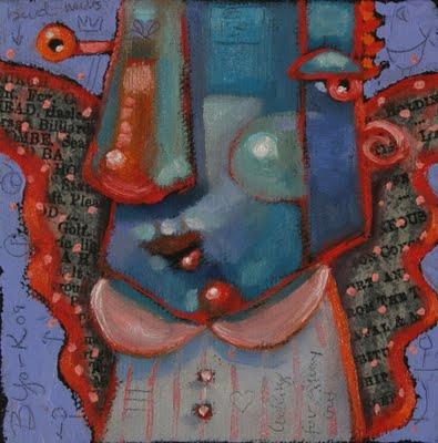 """Archangel Of The Silver Bullet, Recession Angel #1"" original fine art by Brenda York"