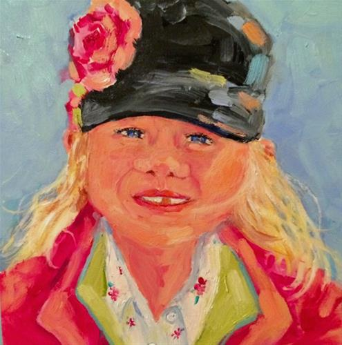 """""""Girl in Pink"""" original fine art by Suzy 'Pal' Powell"""