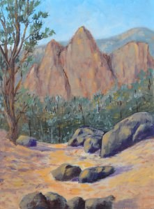 """Pino Trail Vista"" original fine art by Robert Frankis"