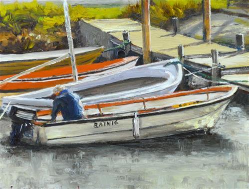 """Tying Up"" original fine art by Peter Bain"