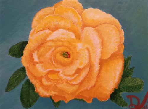 """""""Yellow Flower"""" original fine art by Donna Vieth"""