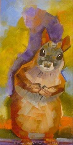 """Squirrel"" original fine art by Shawn Deitch"
