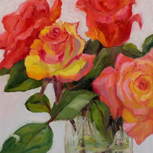 """Rose Reverance"" original fine art by Jana Bouc"