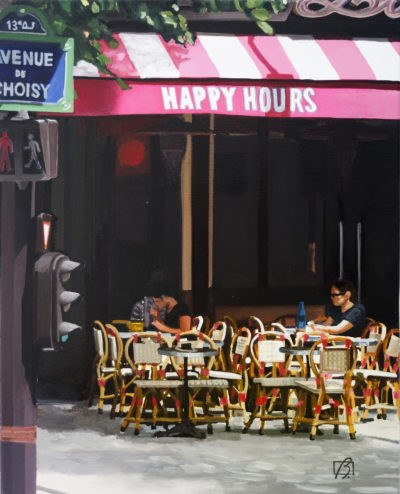 """Happy Hours"" original fine art by Andre Beaulieu"