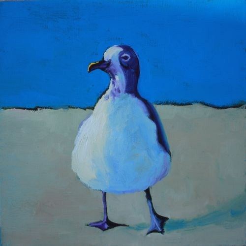 """""""Keep Calm & Live at the Beach Contemporary Animal Paintings by Arizona Artist Amy Whitehouse"""" original fine art by Amy Whitehouse"""