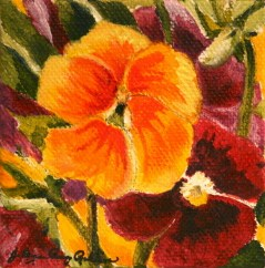 """""""Penny Lane Viola Mix"""" original fine art by JoAnne Perez Robinson"""