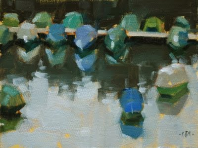 """German Boats"" original fine art by Carol Marine"