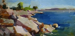 """Afternoon at Windy Point"" original fine art by Qiang Huang"
