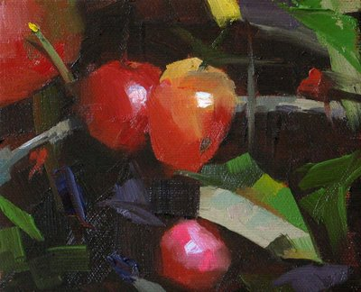 """""""Schmid's Tomato --- Sold"""" original fine art by Qiang Huang"""