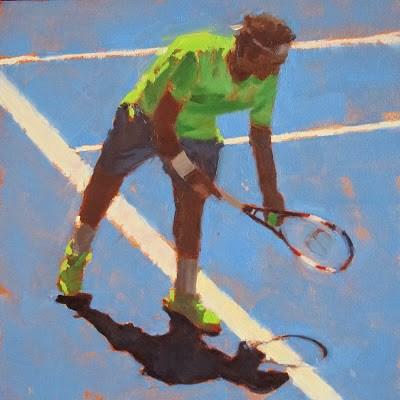 """TENNIS - Australian Open #2"" original fine art by Helen Cooper"