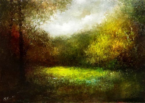 """""""A Glimpse in the Woods"""" original fine art by Bob Kimball"""