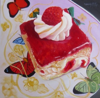 """Piece a' Cake, Oil Painting by Linda McCoy"" original fine art by Linda McCoy"