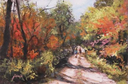 """Autumn Hike"" original fine art by Jamie Williams Grossman"